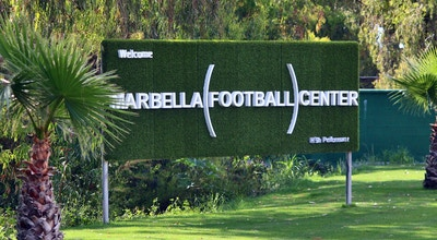Marbella football center sign