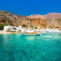 Gresk landsby Loutro, Chania, Kreta, Hellas.