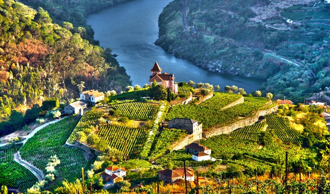 Landskap i Douro-dalen, Portugal