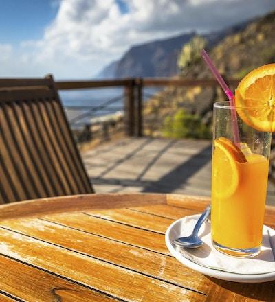 Appelsinjuice glass, Tenerife islanda canarias, Spania