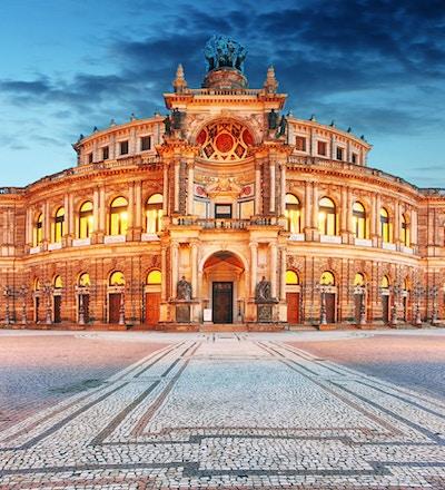 Semperoper i Dresden i Tyskland.