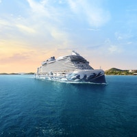 Cruiseskip på havet