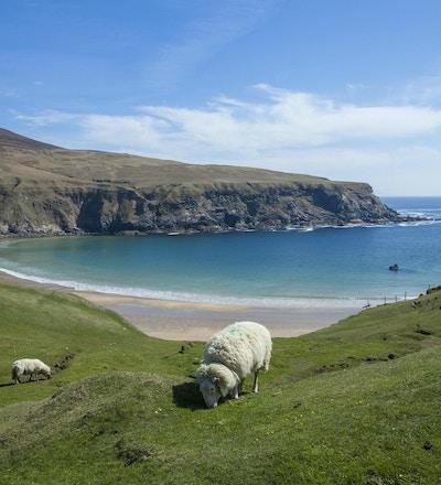 Silver Strand-stranden i Glencolmcille, Co. Donegal, Irland