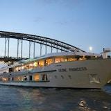 Utsikt mot skipet MS Seine Princess
