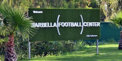 Marbella football center sign