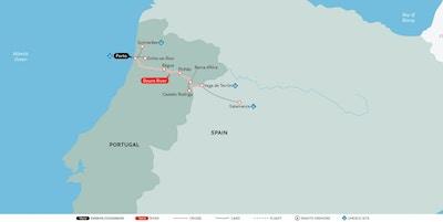 Kart Douro Uniworld