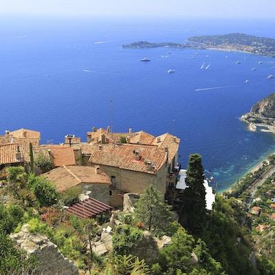 Eze landsby og Middelhavet, Franske Riviera