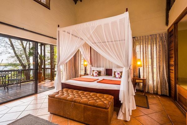 Chobe Marina Lodge. i Botswana.