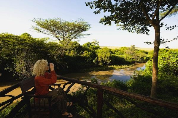 Kvinne i Basecamp Masai Mara, Kenya.