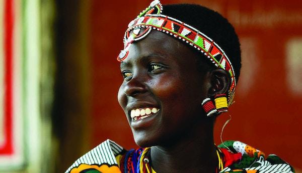 Kvinne i Basecamp Masai Mara Kenya.