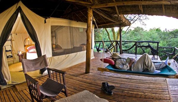 Basecamp Masai Mara i Kenya.