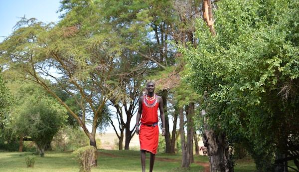 Guide i Masai Mara, Kenya.