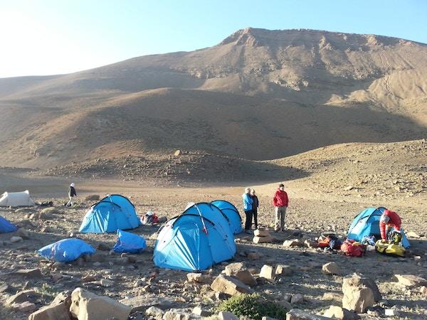 Teltleir i fjellene, Marokko.