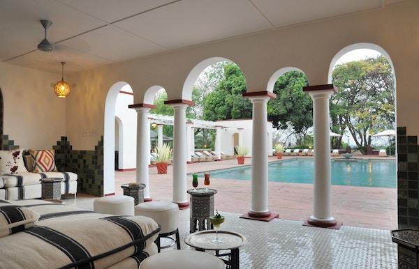 Victoria Falls Hotel i Johannesburg.