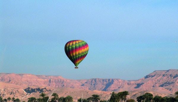 Ballonferd over Aswan i Egypt.