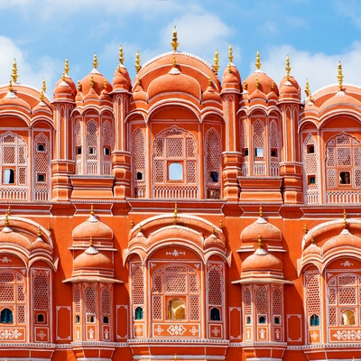 Hawa Mahal palace (Palace of the Winds) i Jaipur, Rajasthan. India.