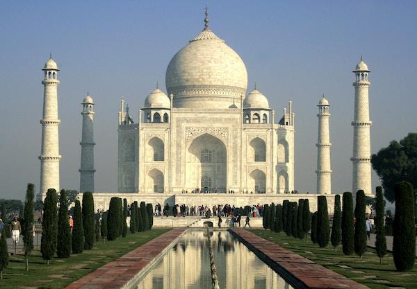 Taj Mahal i India.