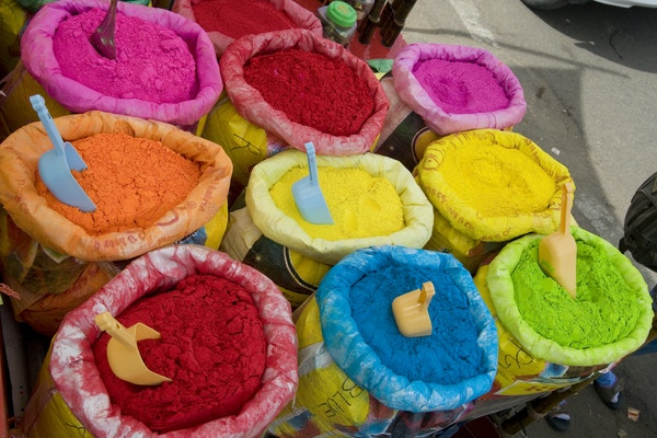Krydder på marked i Jaipur.