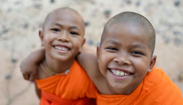 Barn i Kambodsja.