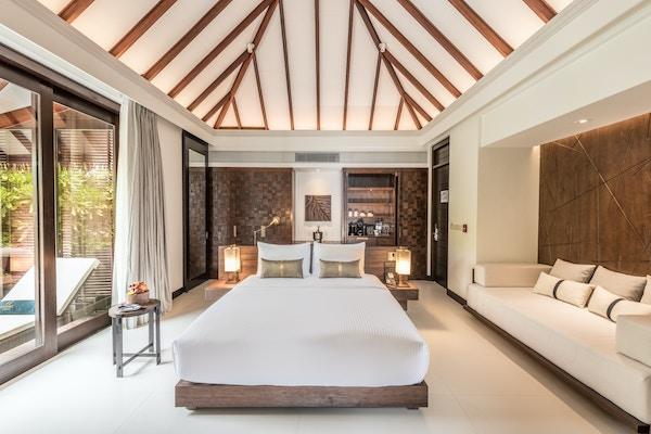 Villa på Maldivene.