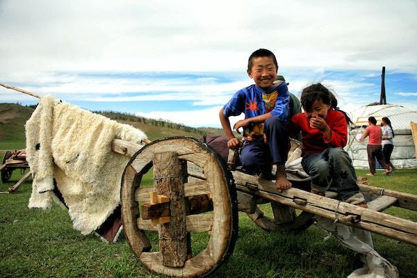 Barn i Mongolia.