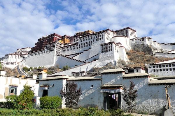 Potala-palasset i Lhasa, Tibet.