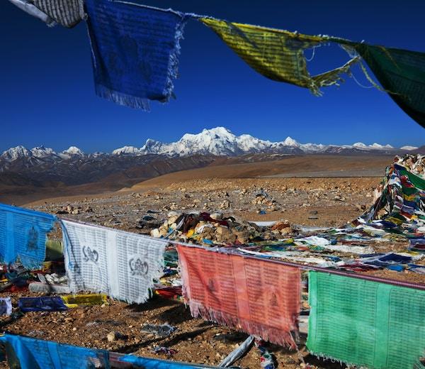Høye fjell i Nepal.