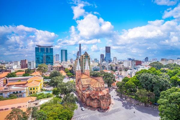 Notre-Dame katedralen i Ho Chi Minh City, Vietnam.