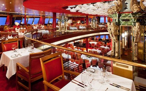 Restaurant på MS Rotterdam.
