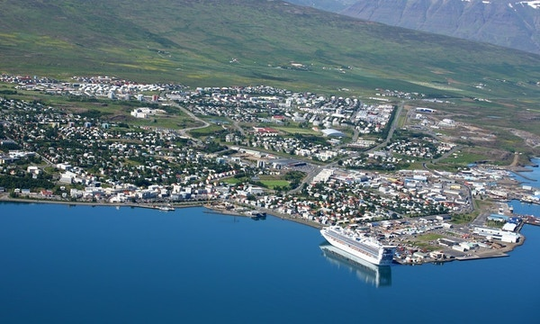 Akureyri på Island.