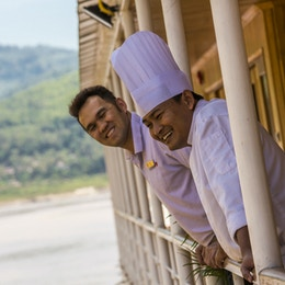 Om bord på Pandaw River Cruises.