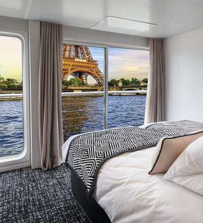 Cabine03 deux lits separes pont superieur MS Renoir Seine Croisieuropec Gregory Gerault