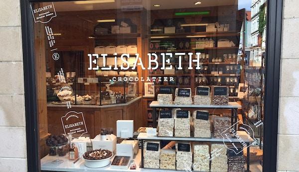 Butikk med belgisk sjokolade, Brussel.