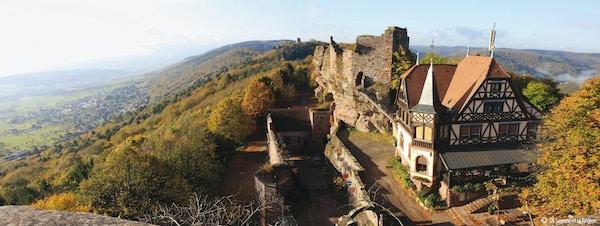 Haut-Barr-slottet i Frankrike.