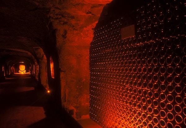 Champagnekjeller i Frankrike.