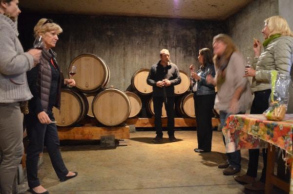 Vinsmaking i vinkjeller.