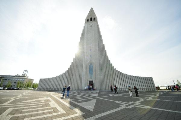 Kirke i Reykjavik, Island.