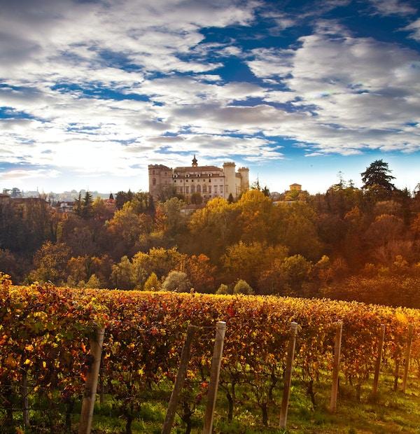Landskap i Piemonte, Italia.