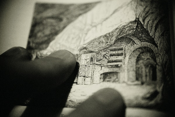 Tegning av underjordiske Roma.