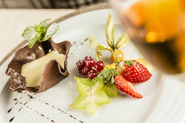 Dessert på Hotel Touring, Italia.