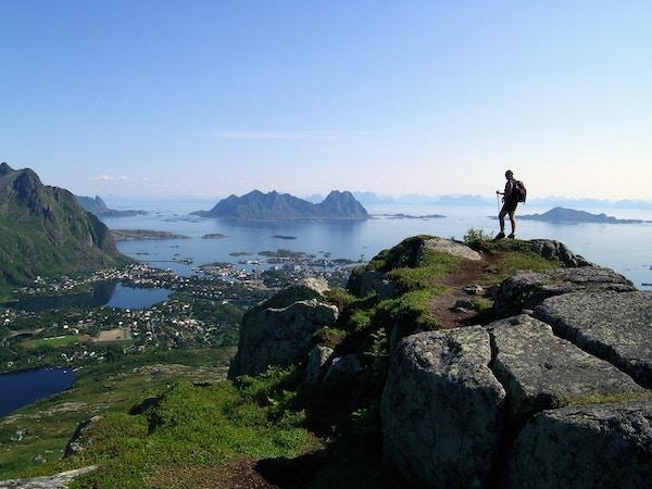 Utsikt over Svolvær, Norge.