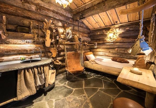 Rom på Husky Lodge, Finnmarksvidda.