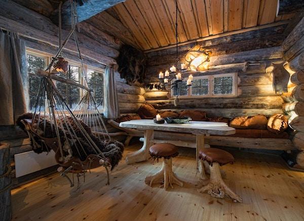 Innvendig, Husky Lodge på Finnmarksvidda.
