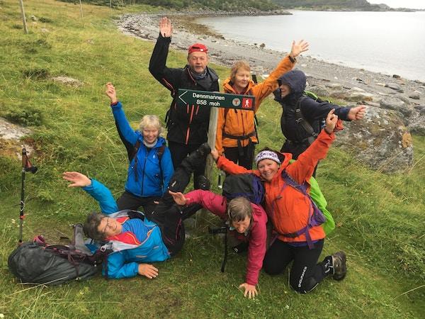 Turister på Helgelandskysten.