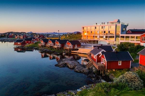 Lovund Hotell på Træna, Norge.