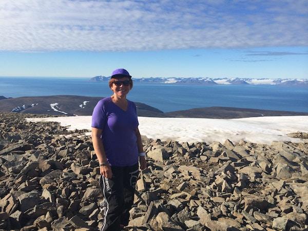 Kvinne på Nordenskiöld, Svalbard.