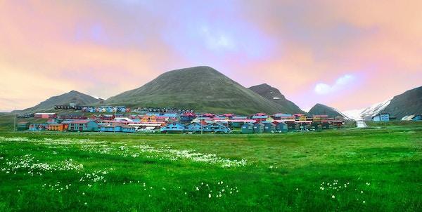 Longyearbyen på Svalbard.