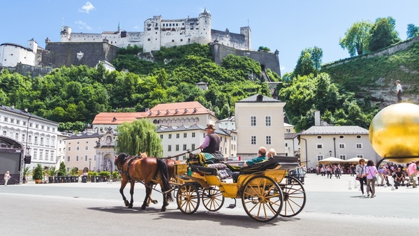 Hestedrosje i Salzburg i Østerrike.