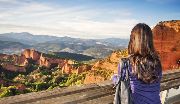 Utsiktspunkt ved Las Medulas, Spania.