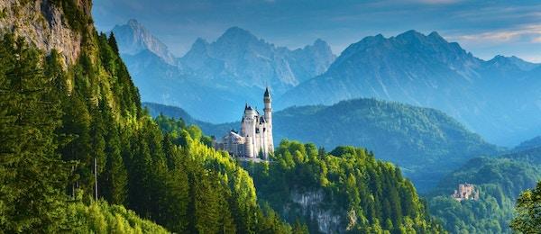 Neuschwanstein-slottet i Tyskland.